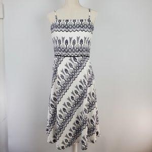 Ann Taylor Loft Linen Strapless Dress Size 8